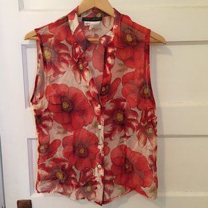 Franco Mirabelli red silk blouse - size S